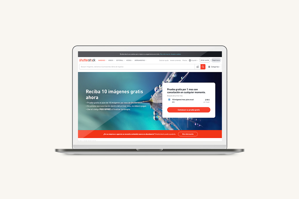 Bancos de imágenes Shutterstock